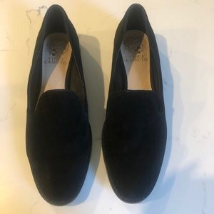 Black Suede Vince Camuto loafers Sz.38